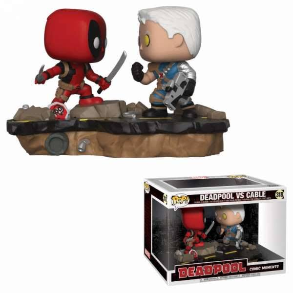 Funko Pop 318 Deadpool Versus Cable Vinyl Figure
