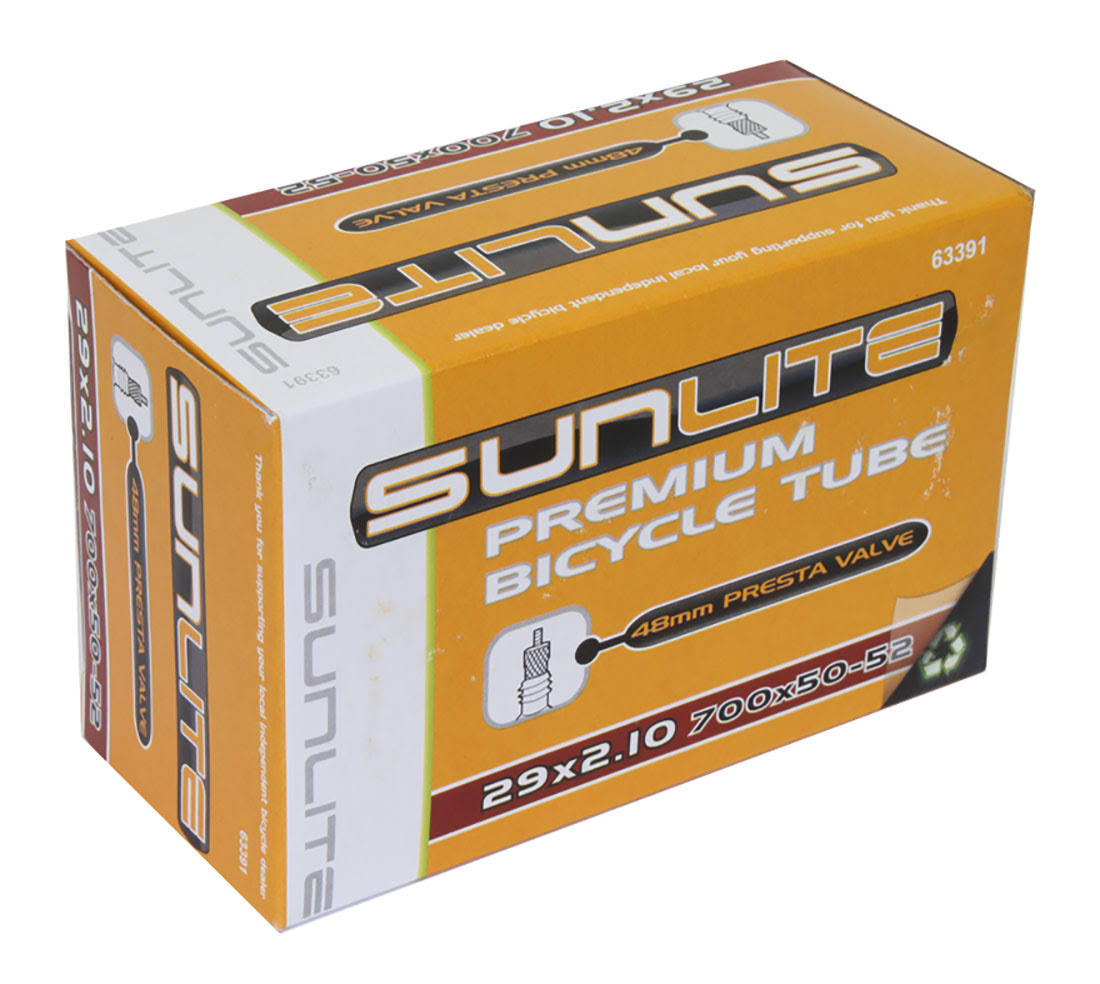 Sunlite Premium Bicycle Tube - Black, 48mm