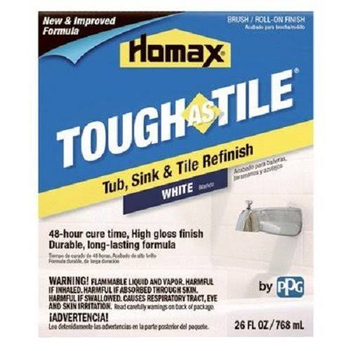 Homax Tough as Tile Epoxy Tub & Tile Finish 26 oz., White