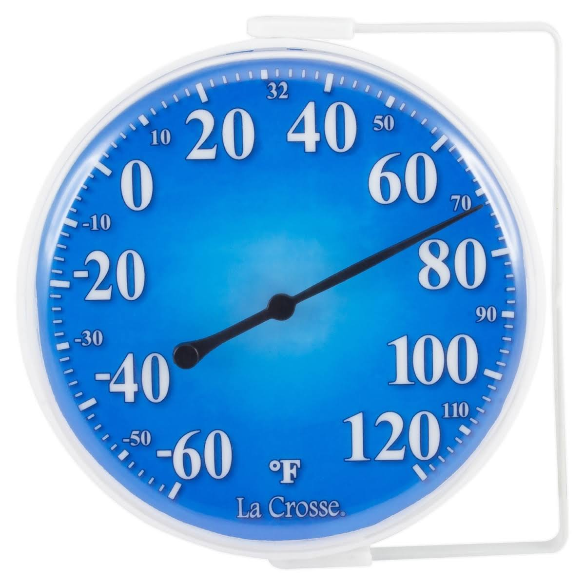 La Crosse Technology 104-1512A 5 in. Indoor & Outdoor Dial Thermometer Weather Station Blue