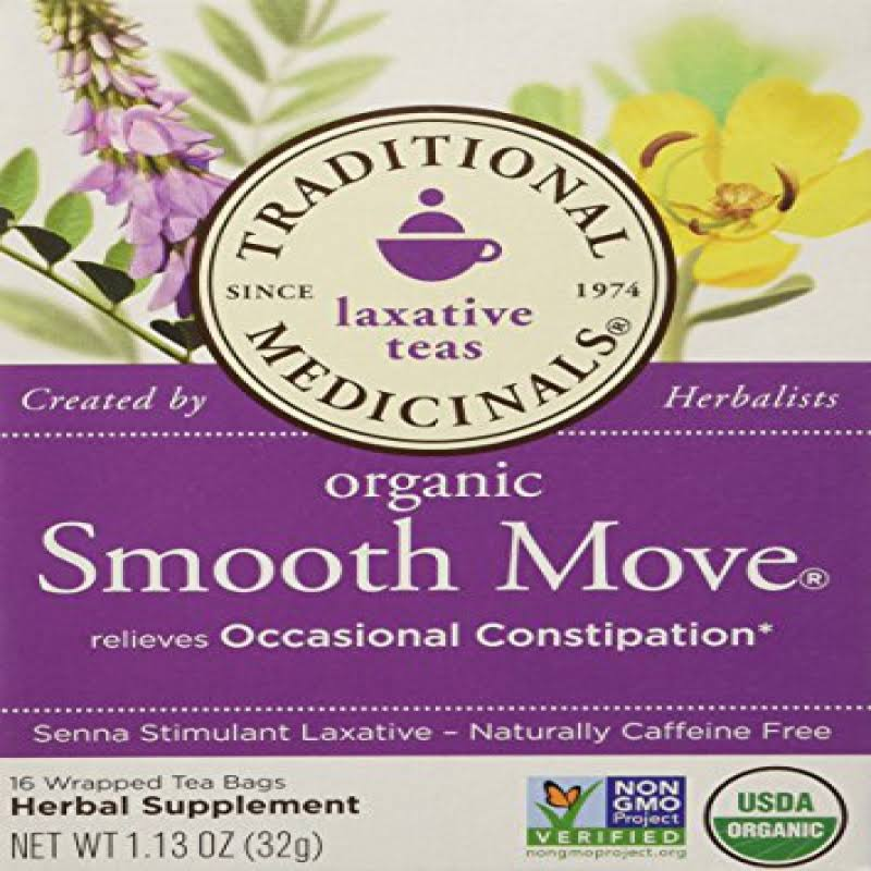 Traditional Medicinals Organic Smooth Move Herbal Tea 2-pack;32 Count.