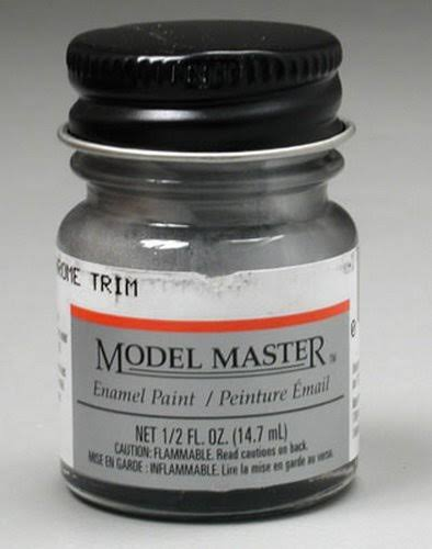 Model Master Silver Chrome Trim Enamel Paint 1/2 oz Testors 273409