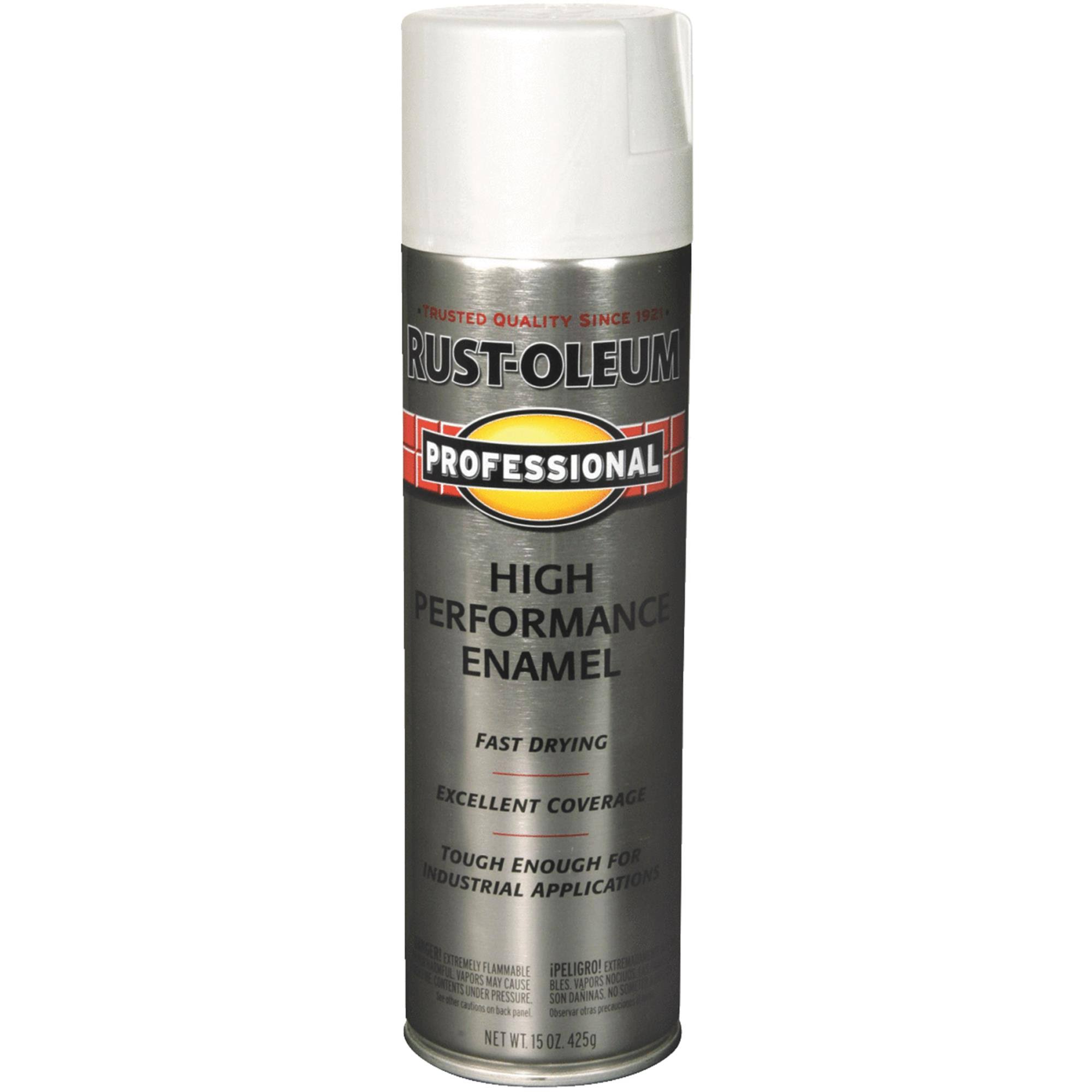 Rust-Oleum 7592838 Professional High Performance Enamel Spray Paint - Gloss White, 15oz