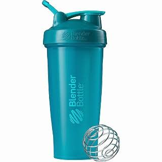 Blender Bottle Classic Shaker Protein Mixer Cup - Teal, 28oz