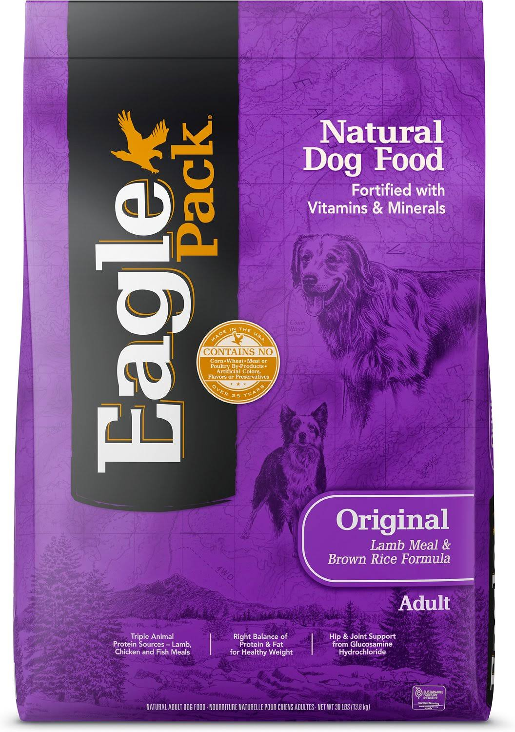 Eagle Pack Natural Dry Dog Food - Lamb & Rice, 30 lb