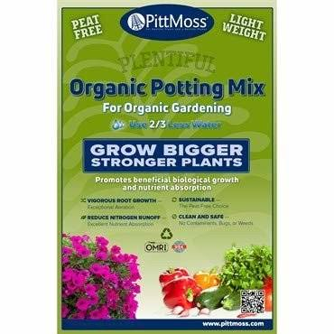 PittMoss Organic Potting Mix for Organic Gardening, 2 Cubic Foot