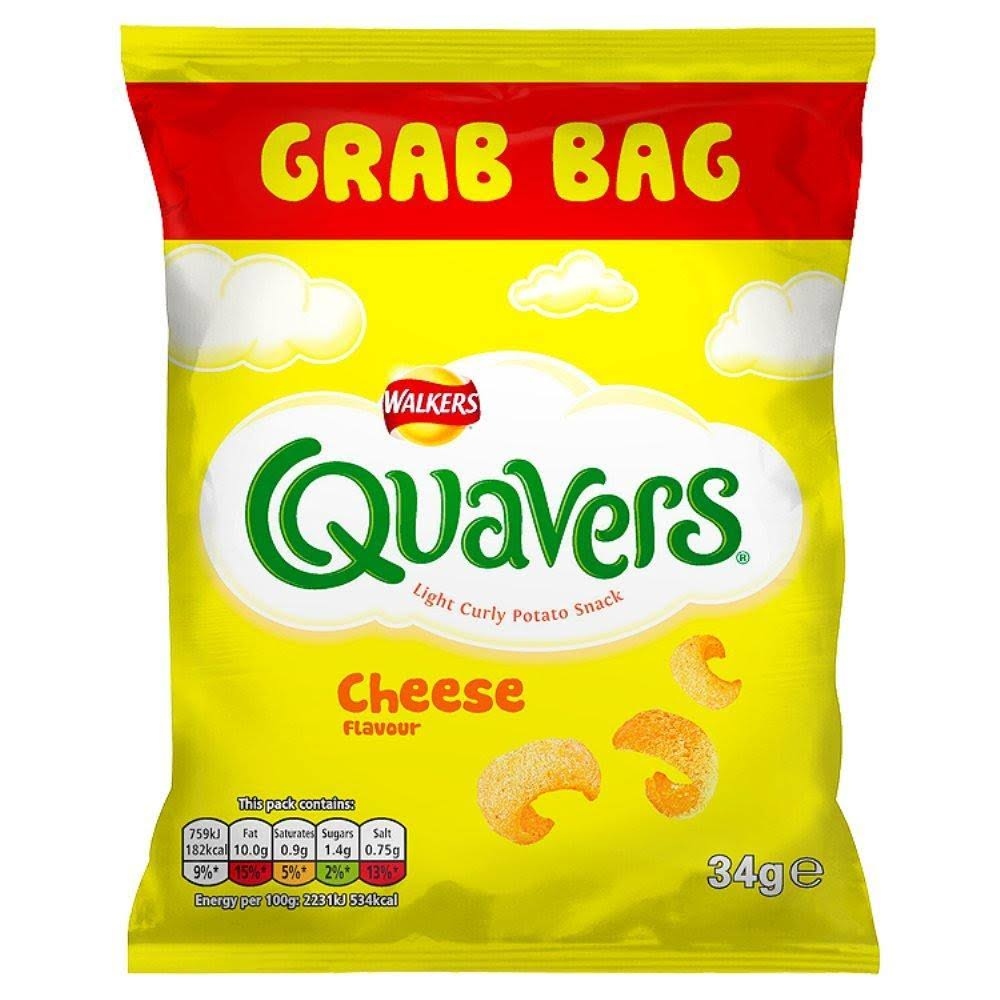 Walkers Quavers Cheese Snacks - 34g