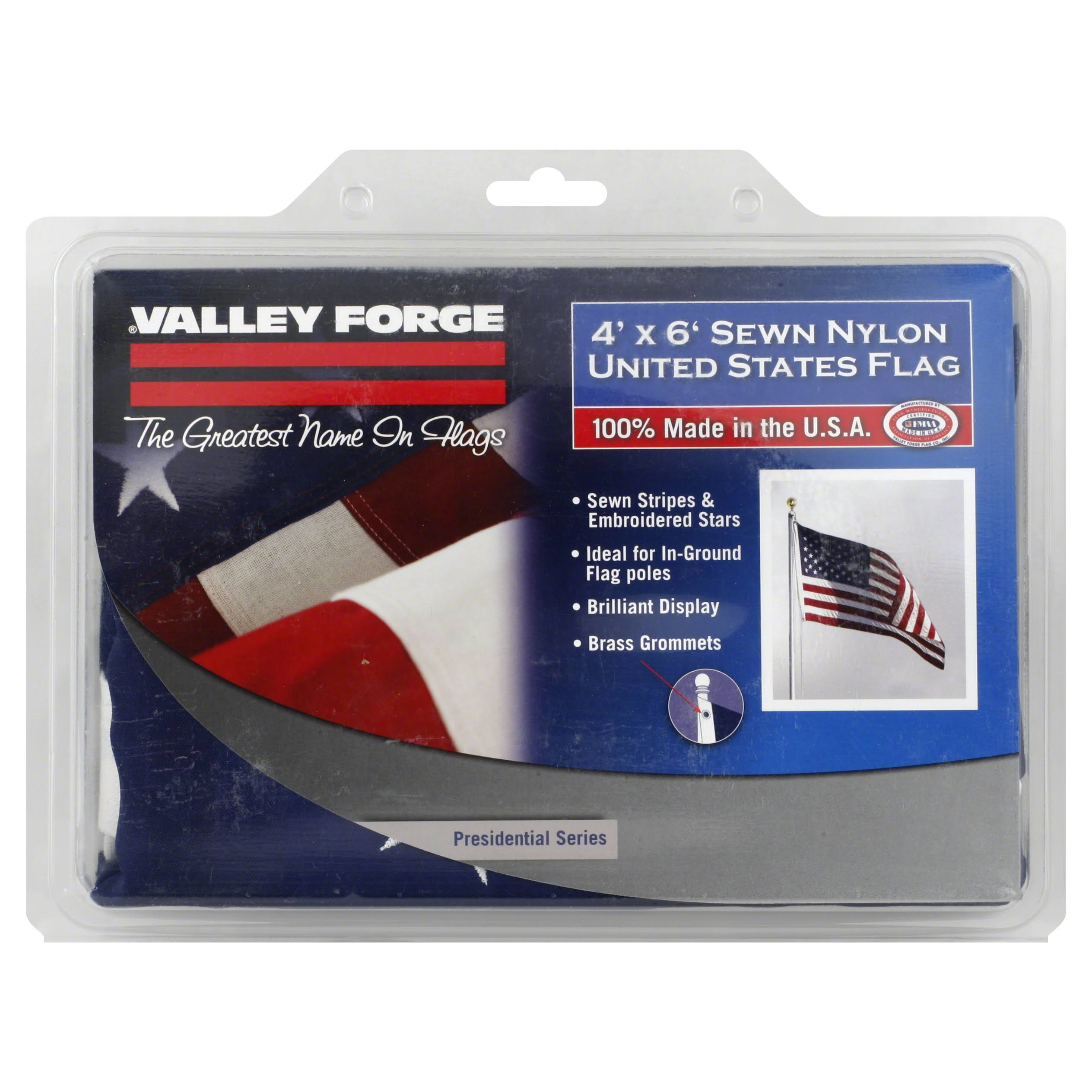 Valley Forge Flag - 4' x 6' Nylon, US Flag