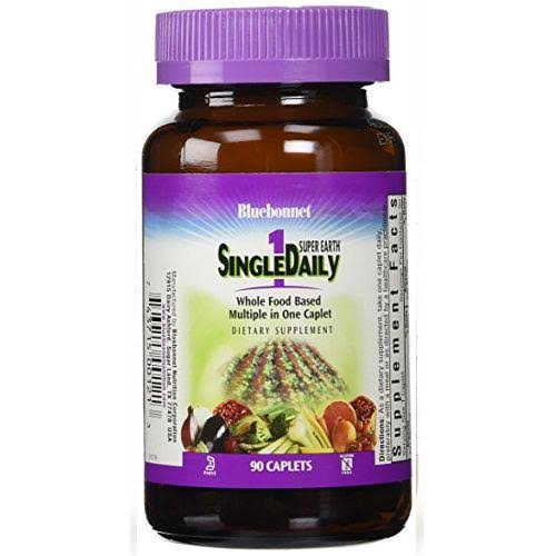 Super Earth Single Daily Multi with Iron Dietary Supplement - 90 Caplets
