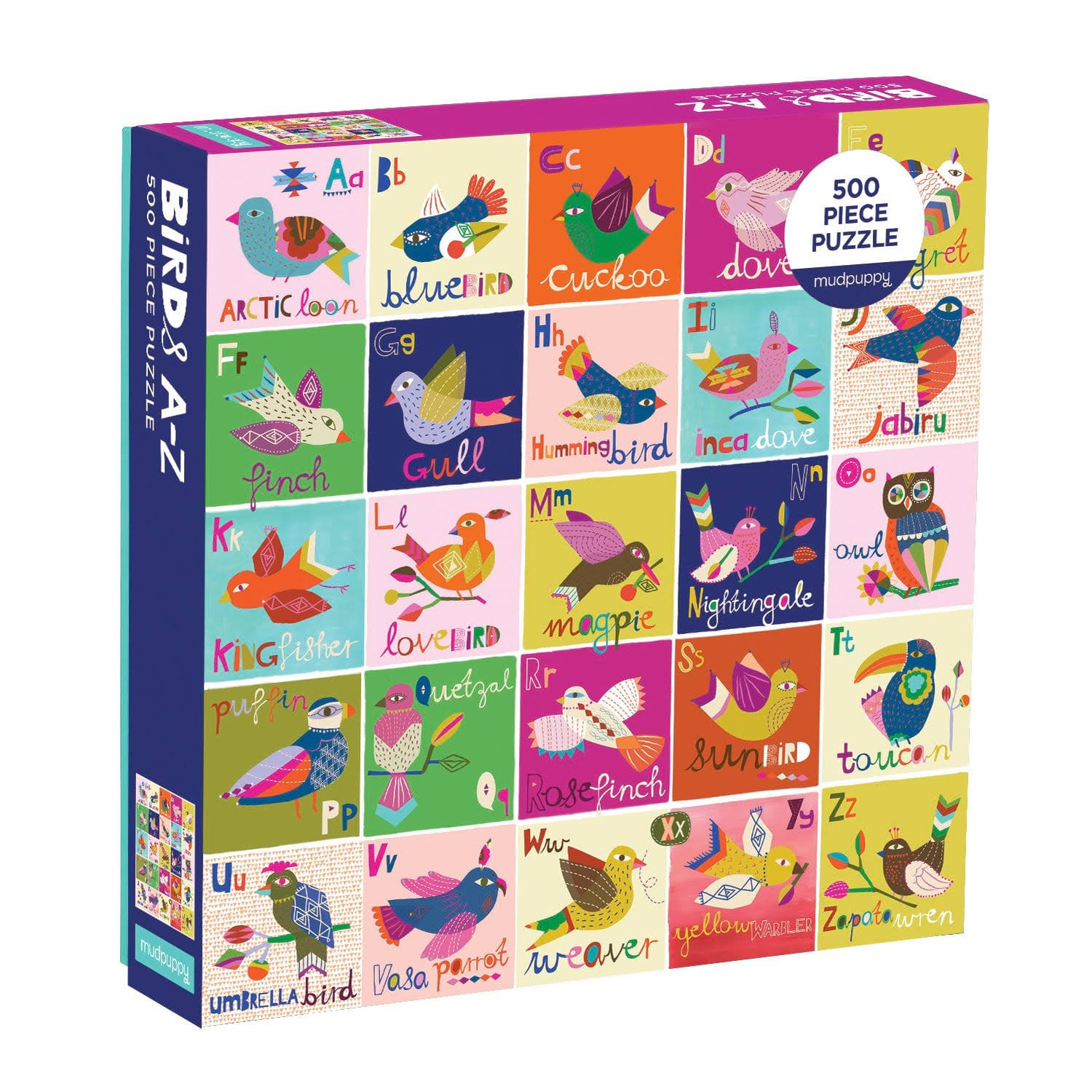 Birds A to Z Family Puzzle - 500 Pieces