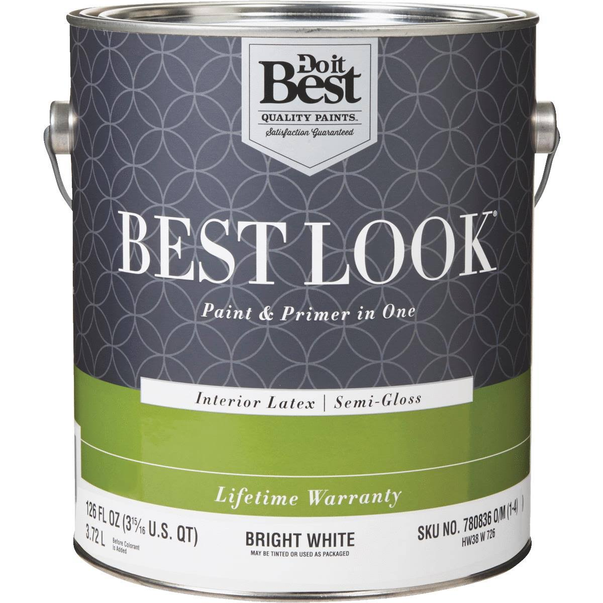 Do It Best Look Latex Paint and Primer In One Enamel - Semi-gloss