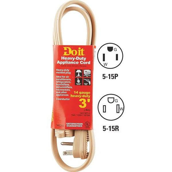 Do it Heavy Dutty Appliance Cord - 3''
