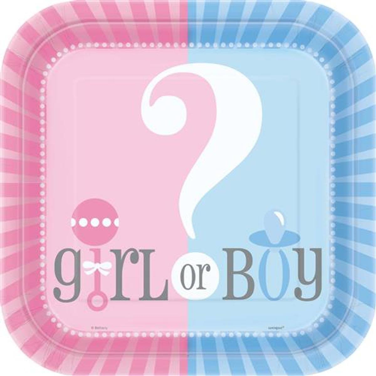 Unique Gender Reveal Dinner Plates