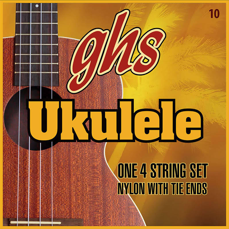 GHS Strings Hawaiian D-Tuning Ukulele Strings - Clear Nylon, x10