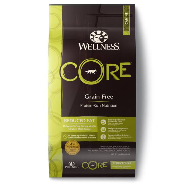 Wellness Core Grain Free Reduced Fat Dry Dog Food 24 lbs