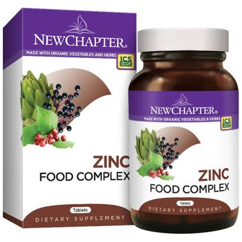 New Chapter Organics Zinc Food Complex - 60 Tablets