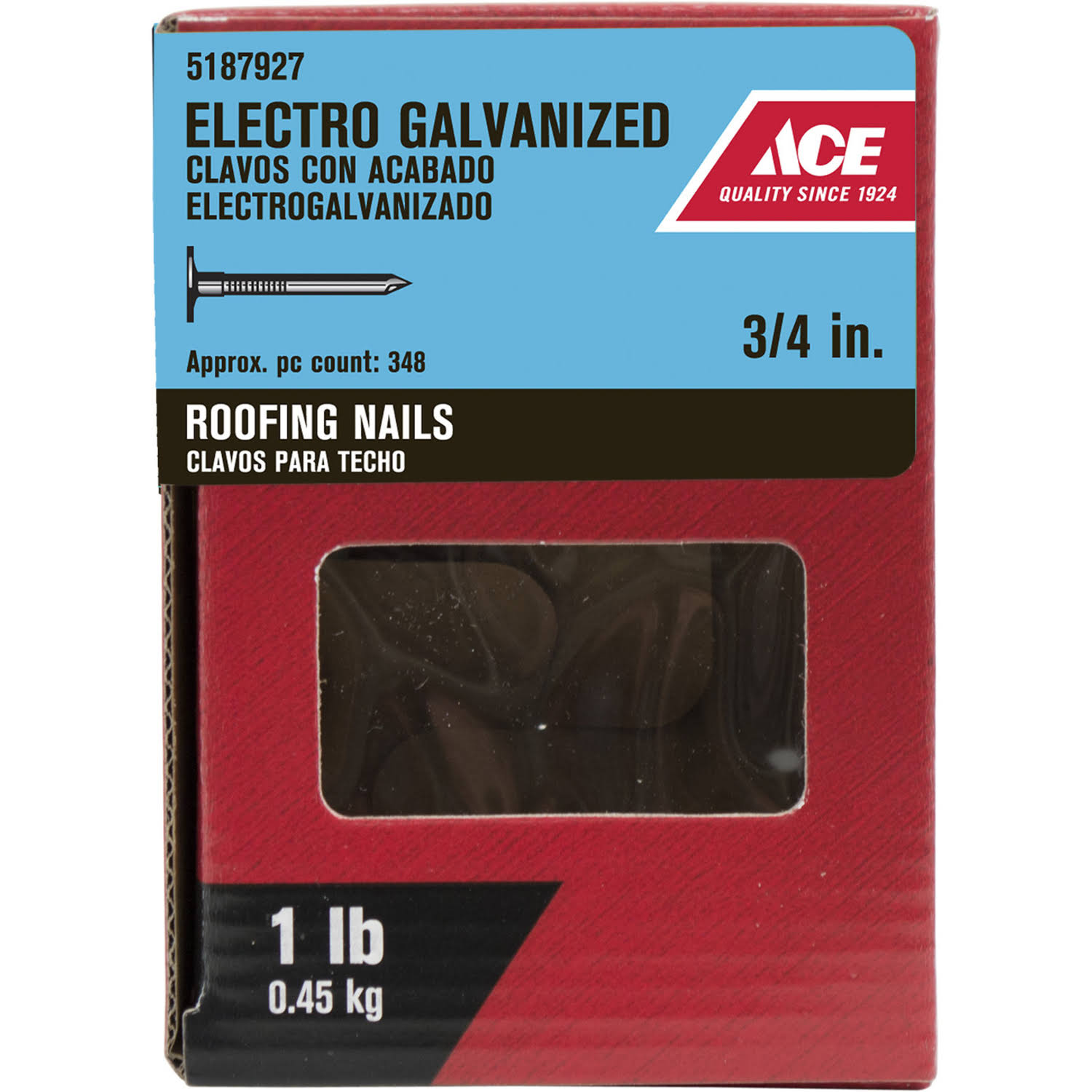 Ace Roofing Nails - Electro Galvanized