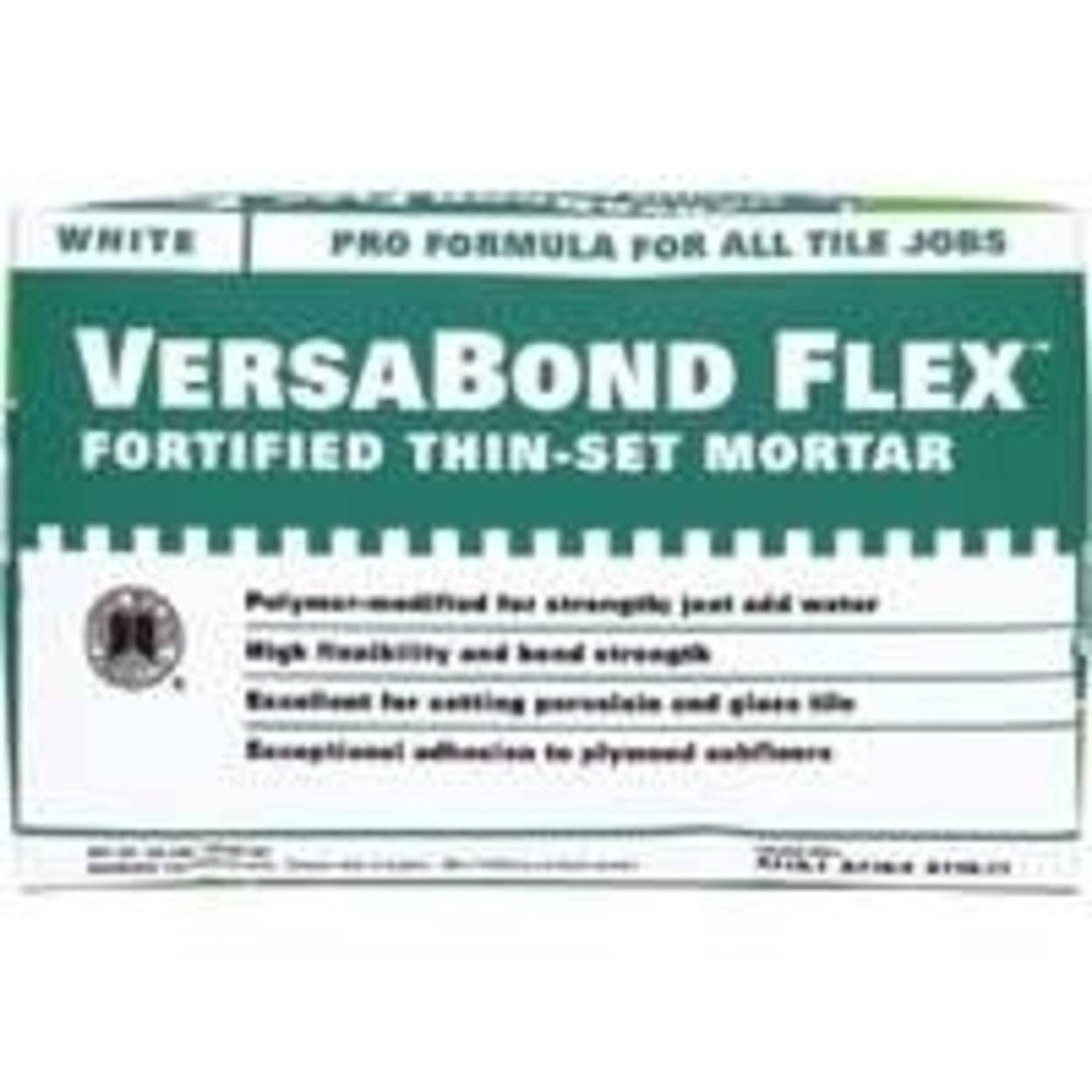 Versabond Flex VBFW50 Fortified Thin-set Mortar - 50lbs, White