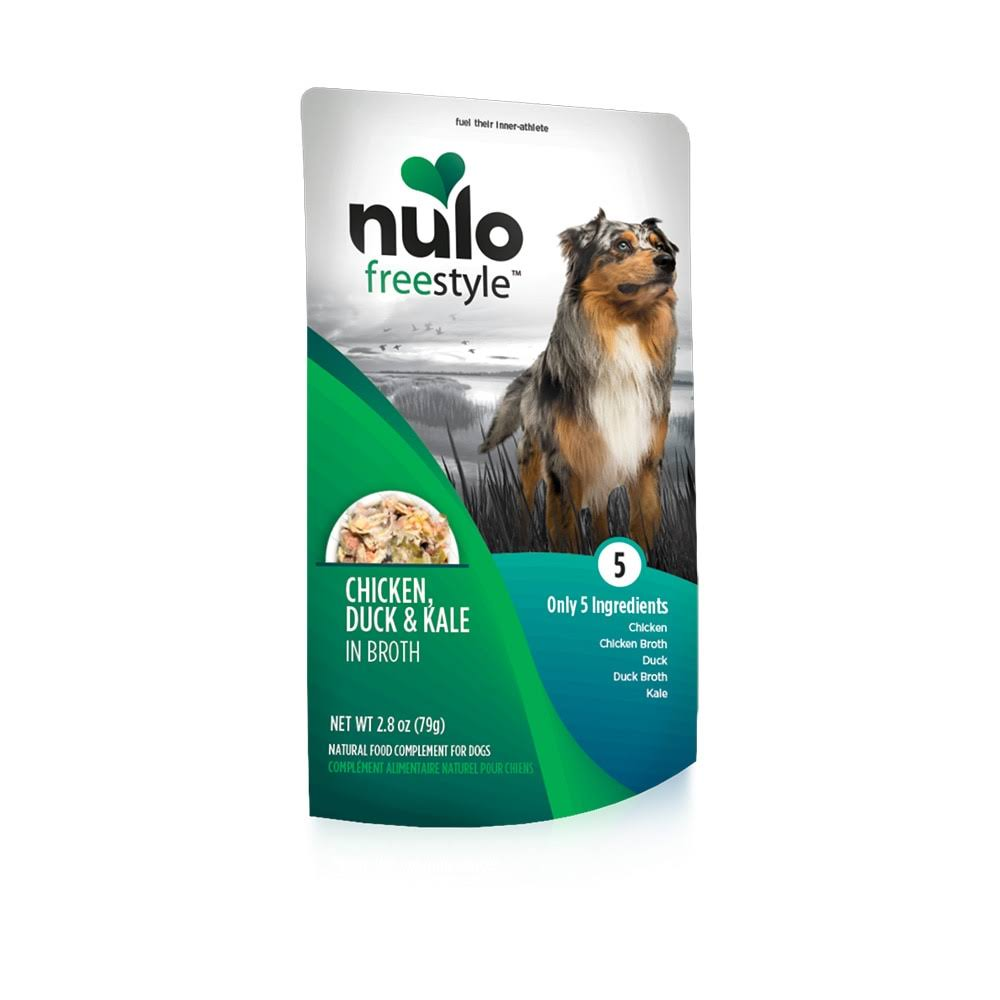 Nulo Freestyle Grain Free Chicken, Duck & Kale Recipe Pouch Dog Food 2.8oz