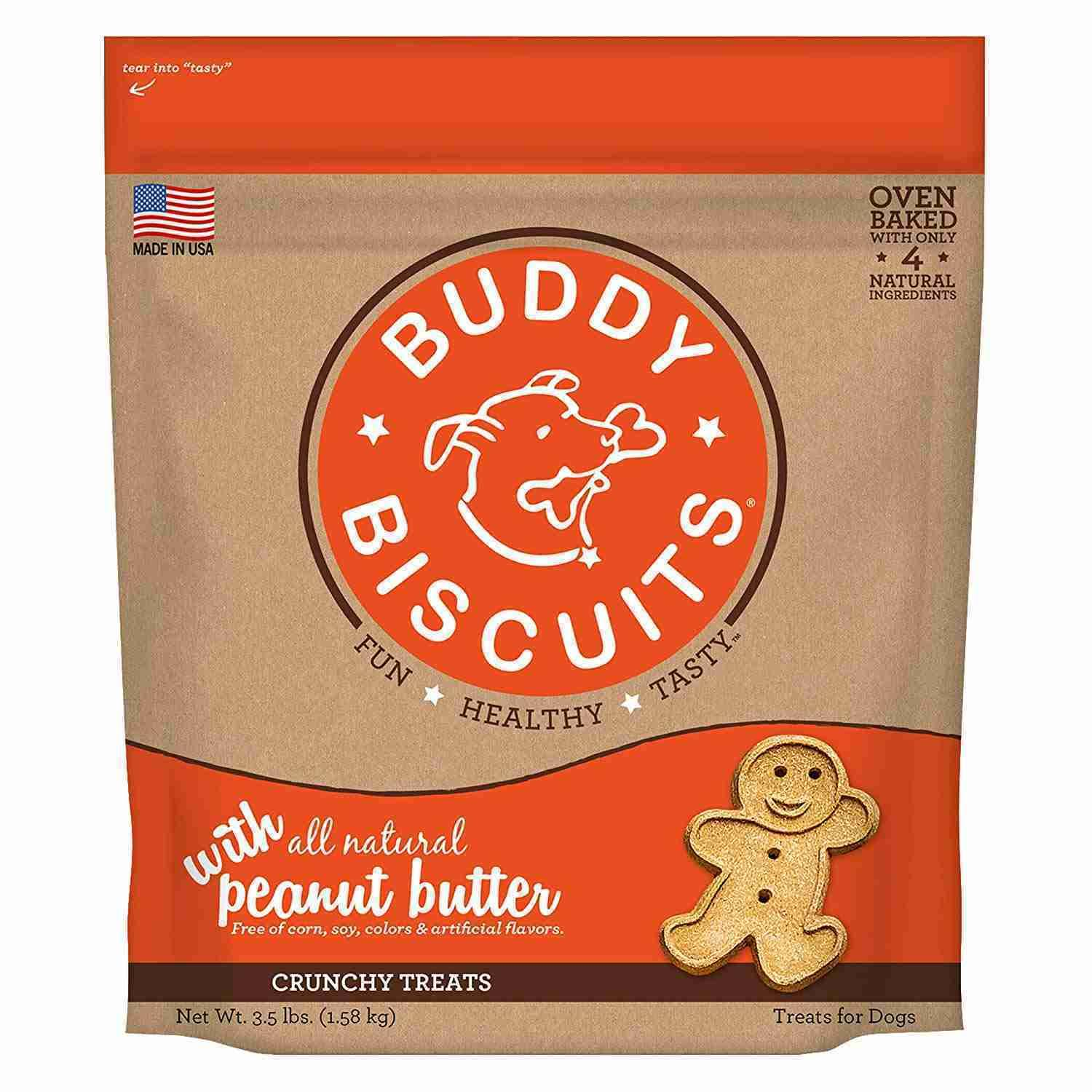 Buddy Biscuits Original Oven Baked Crunchy Treats Peanut Butter 3.5lbs