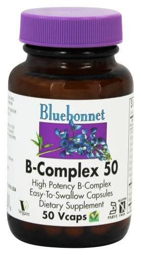 Bluebonnet B-Complex 50 - 50 Vegetable Capsules