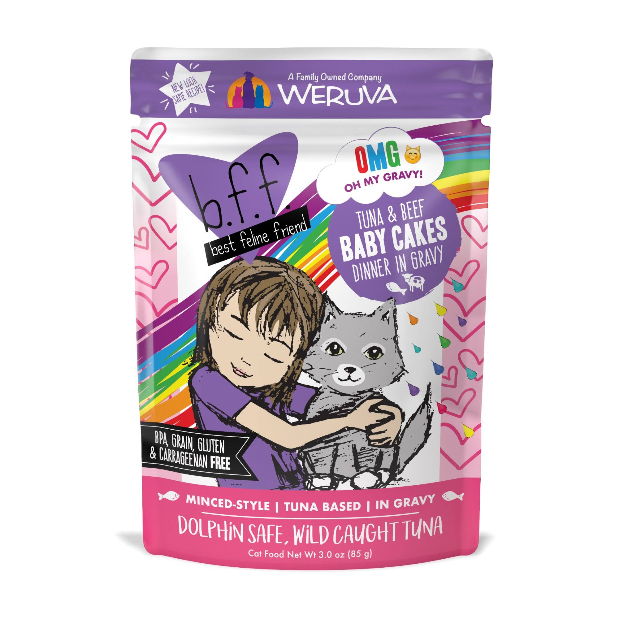 Weruva Best Feline Friend Cat Food - Tuna and Beef Baby Cakes, 3oz