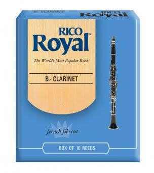 Rico Royal Bb Clarinet Reeds - Strength 2.0, 10pk