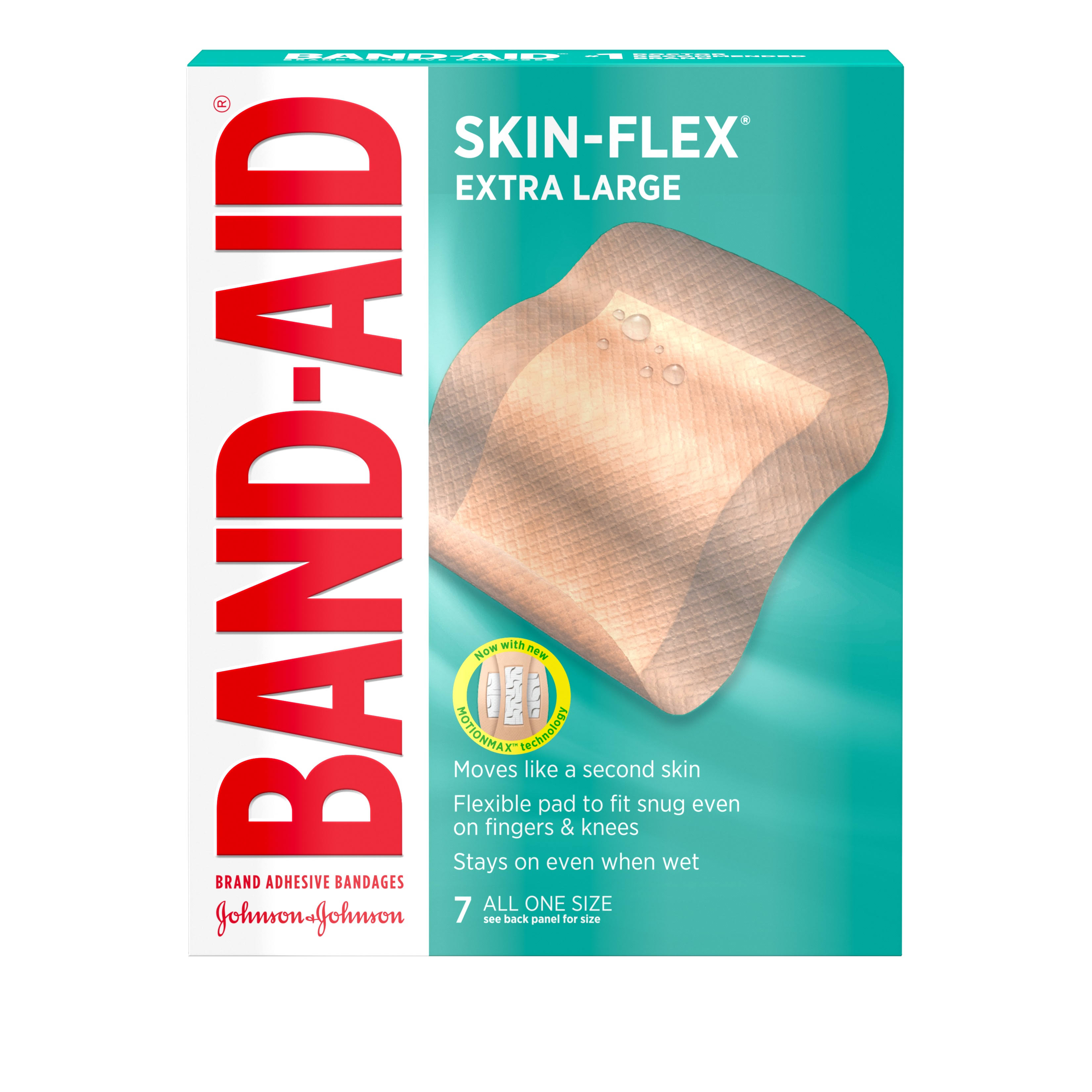 Band-Aid Brand Skin Flex Adhesive Bandages - Extra Large, 7pcs