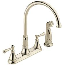 Faus Flooring Home Depot by Delta Cassidy 2 Handle Standard Kitchen Faucet With Side Sprayer