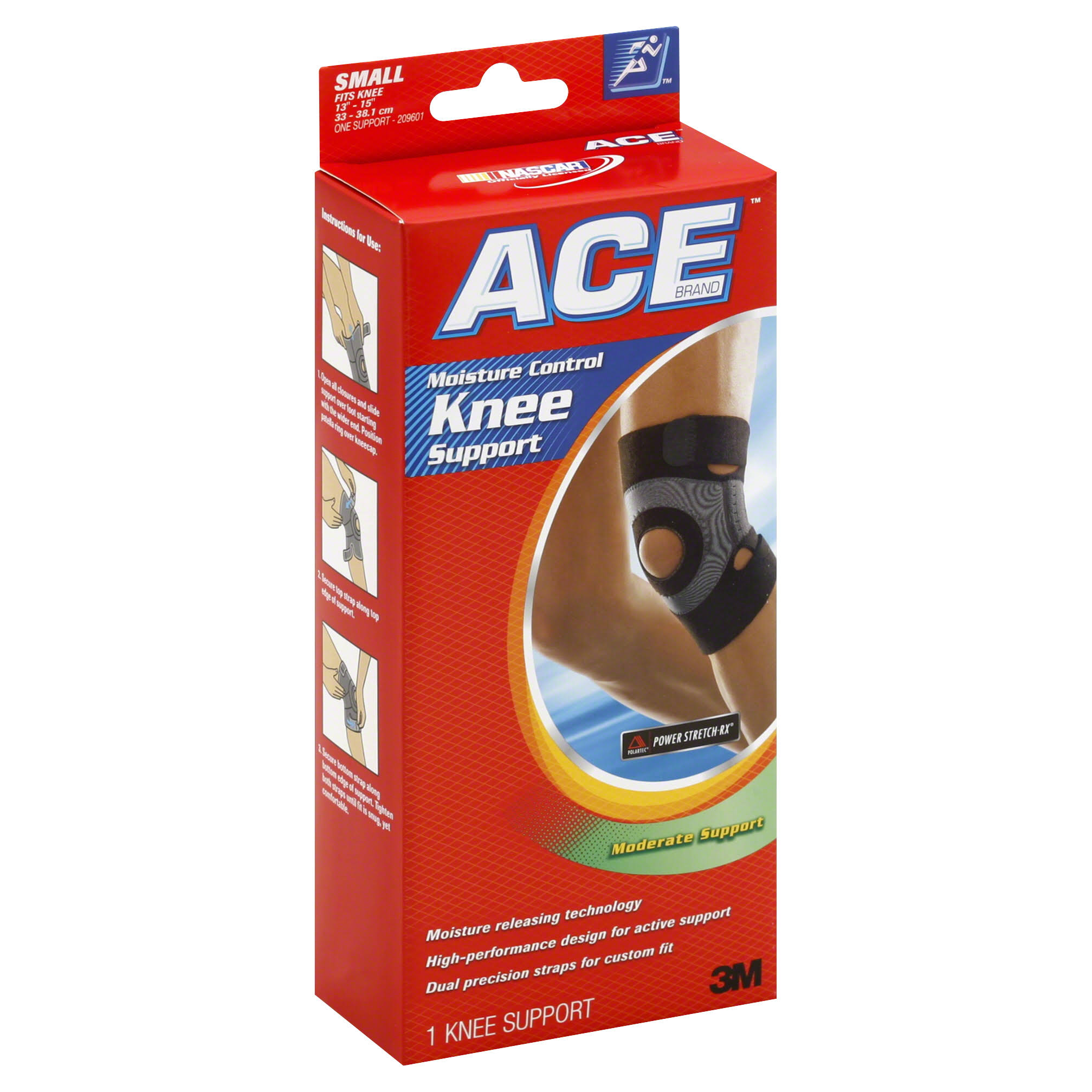 Ace Moisture Control Knee Support