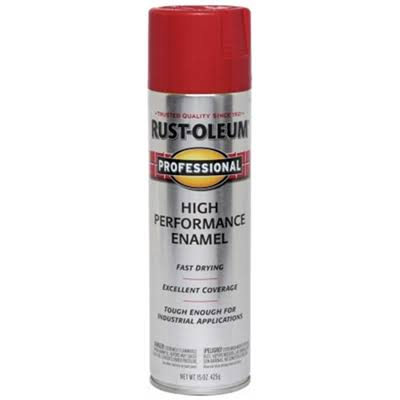 Rustoleum Professional High Performance Enamel Spray Paint - Safety Red, 440ml