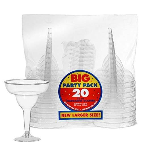 Amscan 35010286 Margarita Glass - Clear, Plastic, 11oz