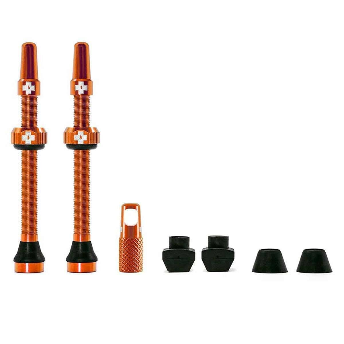 Muc-Off Tubeless Valve Kit - 60mm, Orange