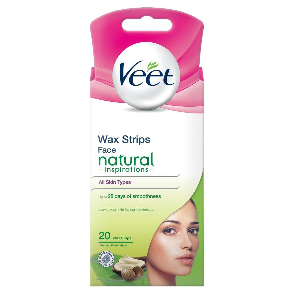 Veet Natural Inspirations Face Precision Wax Strips - 20pcs