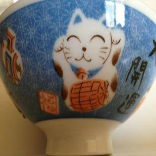 Yokohama Gifts Daiso Maneki Neko Lucky Cat Rice Bowl Blue | General | Delivery Guaranteed | 30 Day Money Back Guarantee | Best Price Guarantee