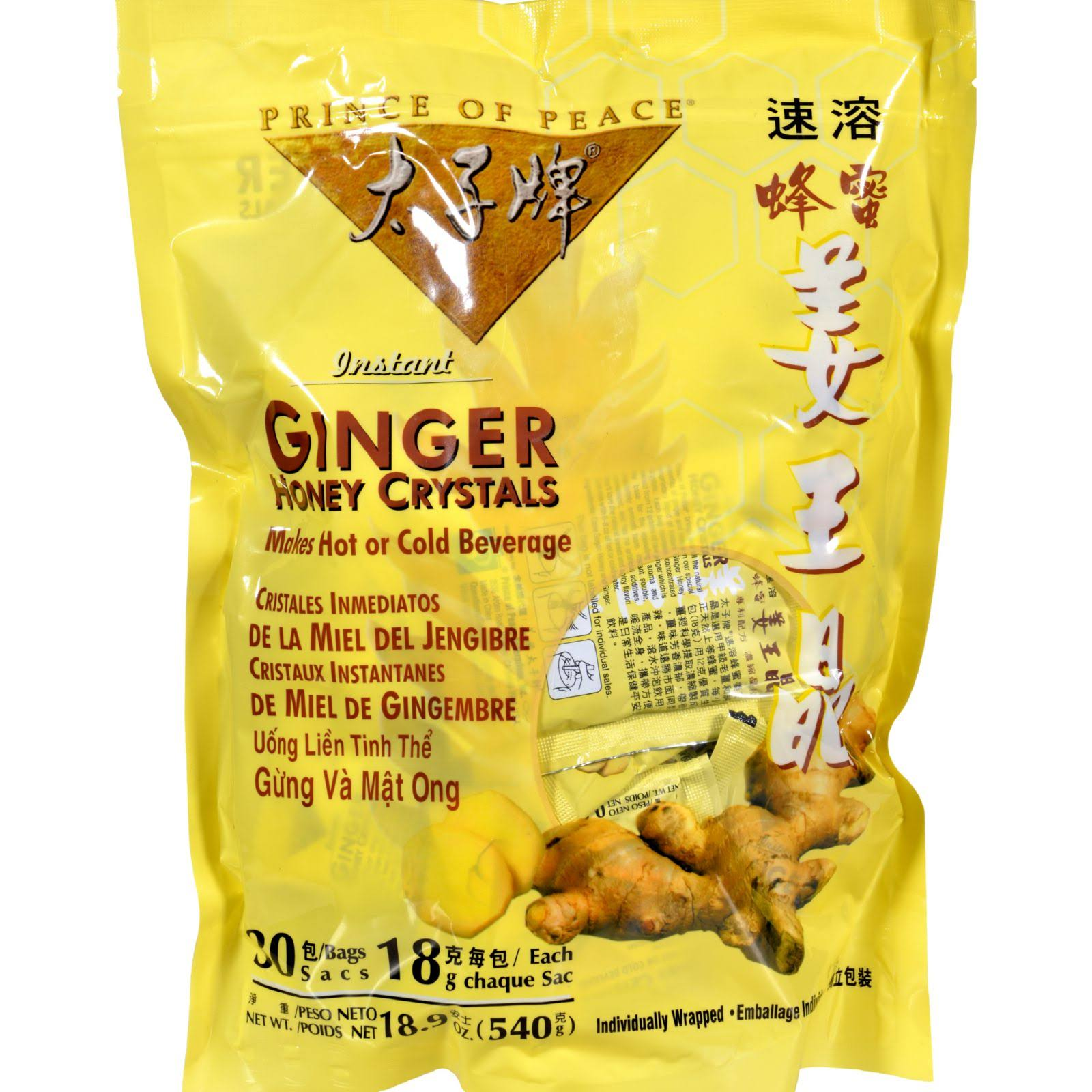 Prince of Peace Ginger Honey Crystals - 30 Packet, 540g