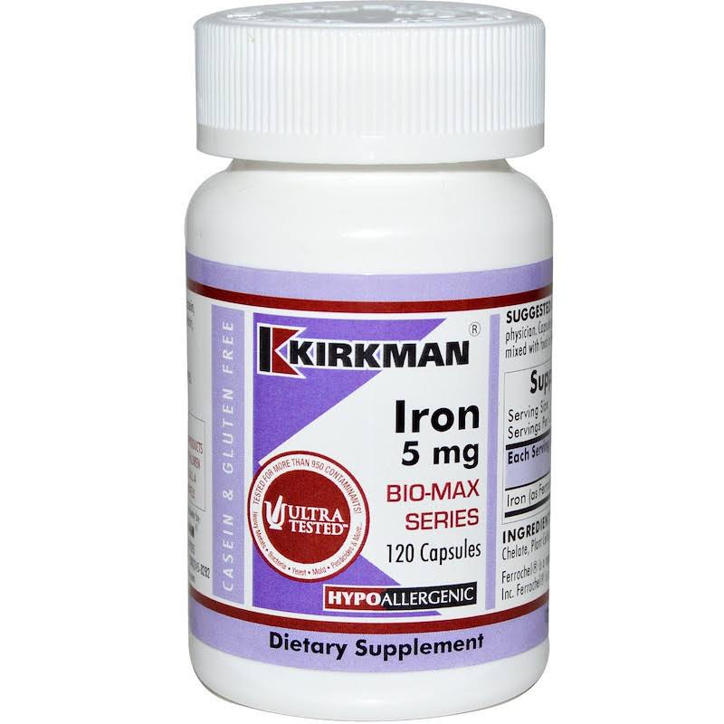 Kirkman Iron Bio-Max Series Dietary Supplement - 5mg, 120ct