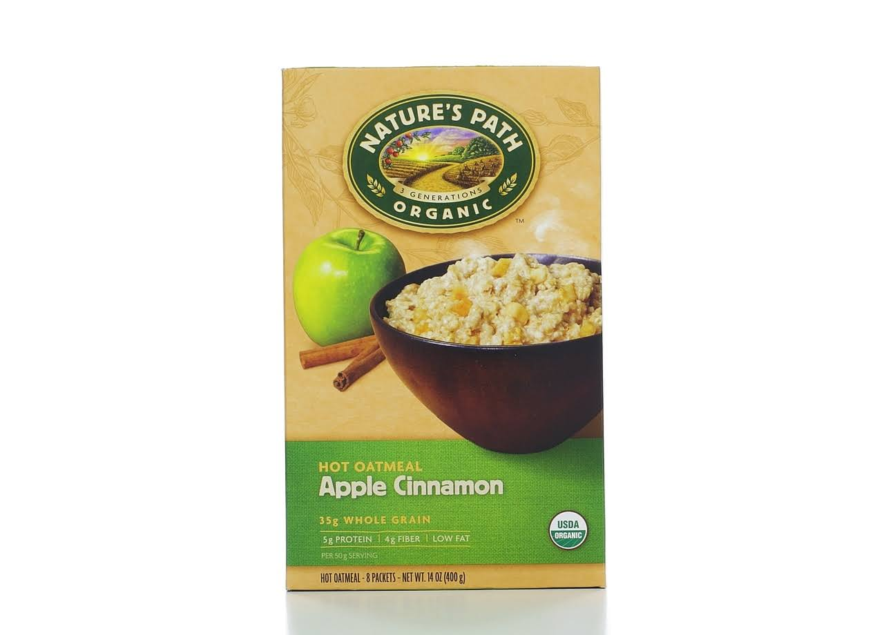 Nature's Path Organic Instant Hot Oatmeal - Apple Cinnamon