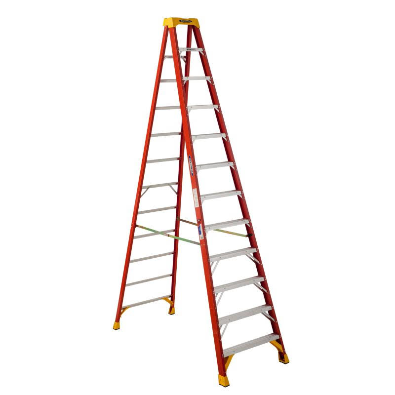 Werner 6212 Fiberglass Step Ladder - 12'