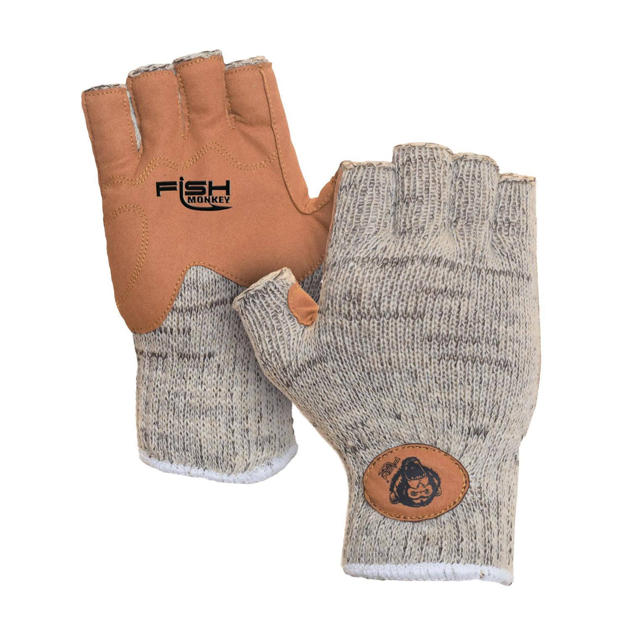 Fish Monkey Wooly Wool Half Finger Gloves - L/XL