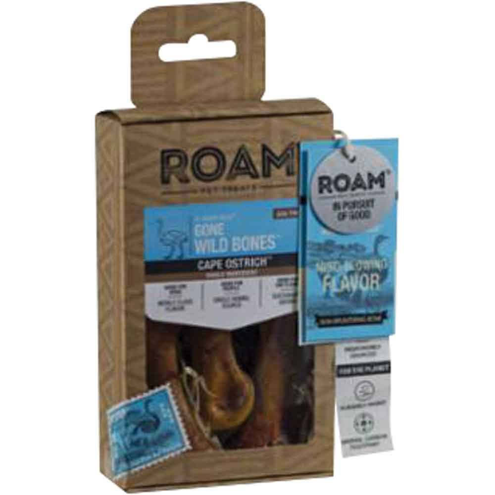 Roam Ostrich Gone Wild Bones Dog Treat
