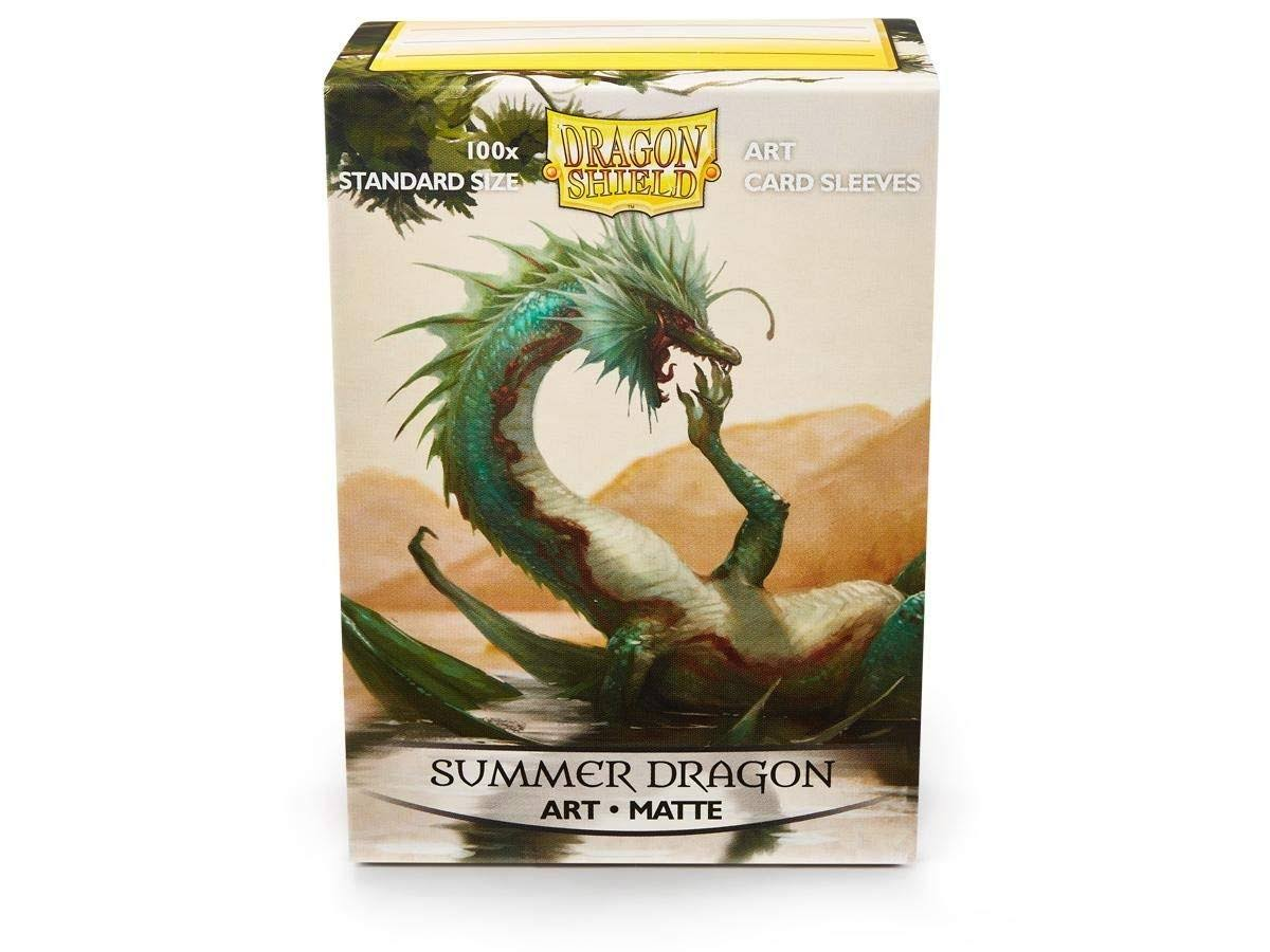 Arcane Tinmen Dragon Shield Art Matte Summer Dragon Card Sleeves - 100pcs