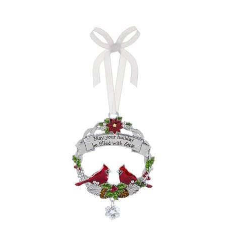 Ganz #EX25467 Christmas Cardinal Ornament - Filled with Love