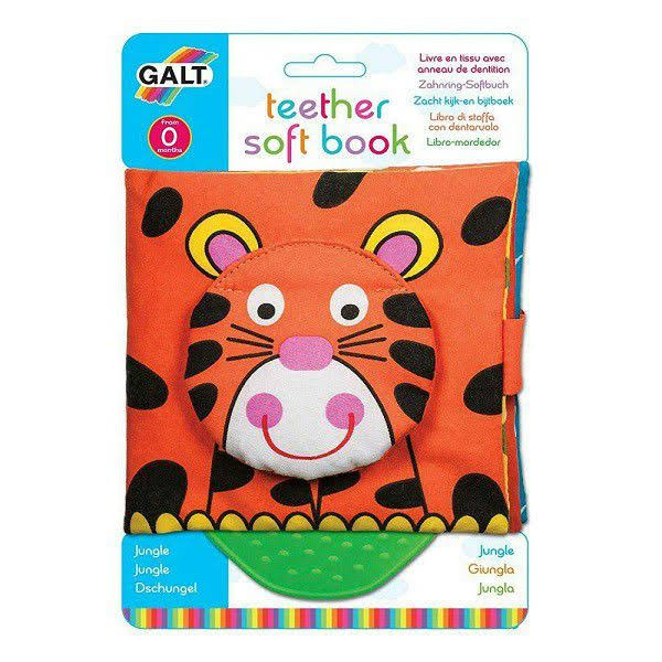 Galt Teether Soft Book - Jungle