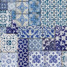 Moroccan Tile Curtain Panels by Muriva Blue Moroccan Tiles Wallpaper Tile Wallpaper Moroccan