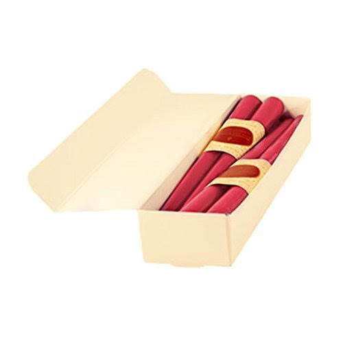 Honey Candles Pure Beeswax 12'' Taper - Paris Pink- Set of 8, 8 Piece