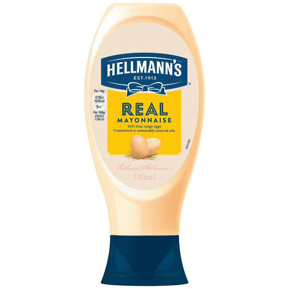Hellmann's Real Squeezy Mayonnaise - 430ml
