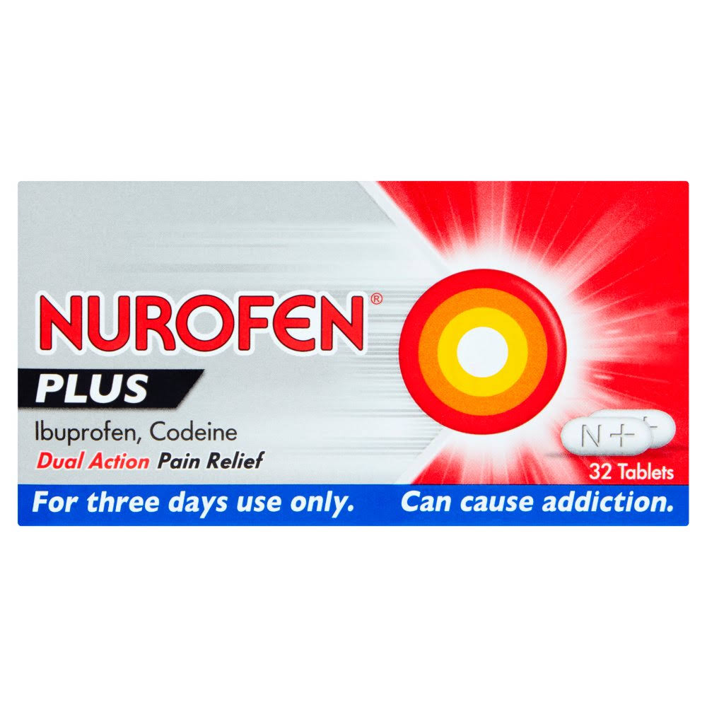 Nurofen Ibuprofen Plus - 32 Tablets