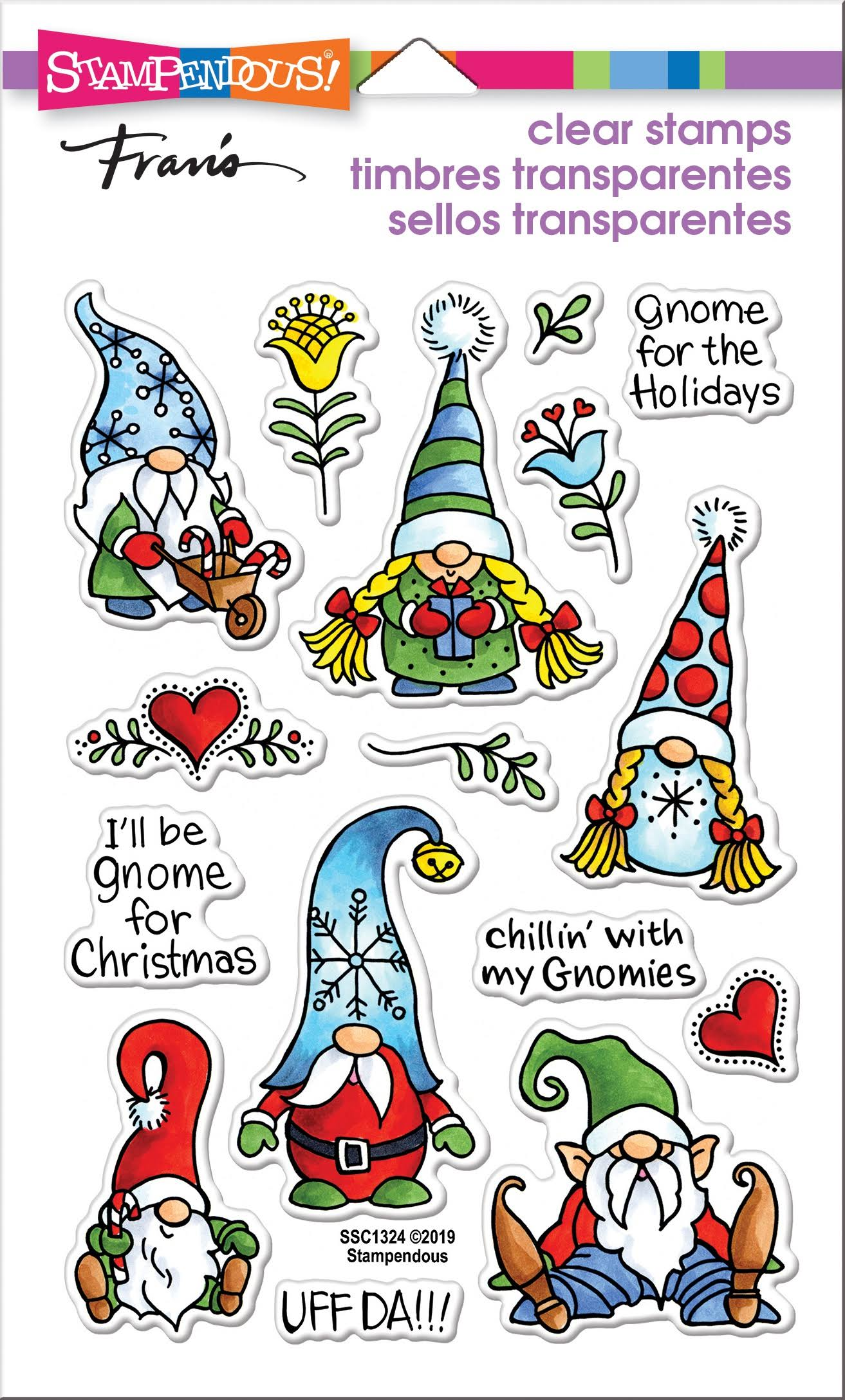 Stampendous SSC1324 Perfectly Clear Stamps Holiday Gnomes