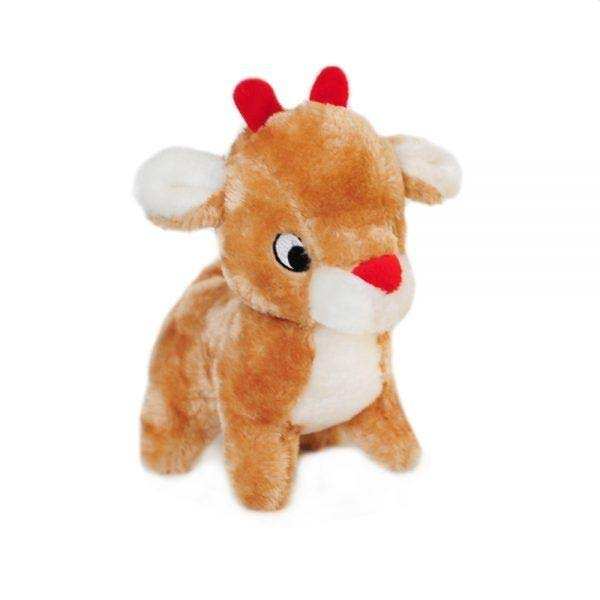 ZippyPaws Holiday Reindeer Squeaky Plush Dog Toy